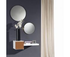 Meuble d'entrée Noyer + miroir - TIGA - Commodes