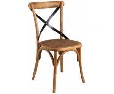 Chaise bistrot en hêtre vieilli - Chaise