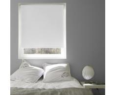 Store Enrouleur Voile Santorini Blanc - 45 x 190cm - Fenêtres et volets