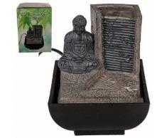 Mini-Fontaine d?intérieur grise Bouddha en Polyrésine 16 cm - Objet à poser