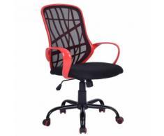Fauteuil de bureau Réglable Maille Rouge - Sièges et fauteuils de bureau
