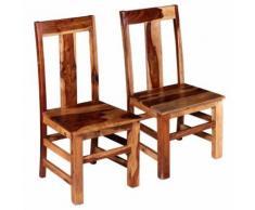 vidaXL 2x Chaise de Salle à Manger Bois de Sheesham Massif Chaise de Cuisine - Accessoires de bain