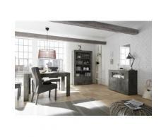 Nouvomeuble - Ensemble salle à manger complète gris anthracite urban - Tables salle à manger