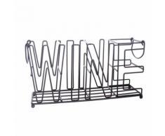 Range-bouteilles en métal Wine - L. 37 cm - Noir - nologie