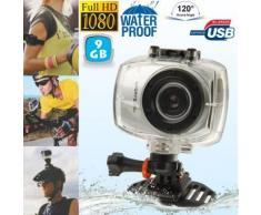 Camera embarquée étanche caisson waterproof Grand angle Full HD 9 Go - Caméscope à carte mémoire