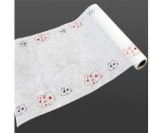 Chemin de table intissé thème Poker - 29 cm x 5 m - Objet à poser