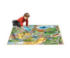 Tapis enfant jeu circuit CONNECTE ZOO Tapis Enfants par House Of Kids 100 x 150 cm - Tapis et paillasson