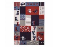 Tapis enfant Hands and Feet par Wecon Rose 120x170 - Tapis et paillasson