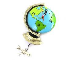 Les Trésors De Lily [M9888] - Horloge Murale 'Allen Designs' Globe Terrestre (22x18 cm) - Décoration murale