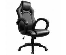 Racing Chaise de Bureau - IntimaTe WM Heart - Fauteuil de Bureau Moderne Confortable Ergonomique En Similicuir PU Haute Dossier Siège Gamer (noir) - Sièges et fauteuils de bureau