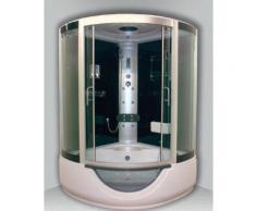 Aqua+ - cabine bain-douche 1/4 de cercle porte coulissante transparente hydromassante 136x136 cm fonction pédiluve - faro - Installations salles de bain