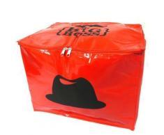 Les Trésors De Lily [L8933] - Coffre de rangement souple 'Moustache' rouge (Mr. Big Boss) - Objet à poser