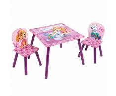 Paw Patrol La Pat' Patrouille - Ensemble Table et 2 chaises pour Enfants , Bois Dense, 63x63x45 cm - Tables de cuisine