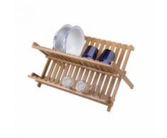 Frandis égouttoir a vaisselle pliable - bambou 011207 - Aide culinaire