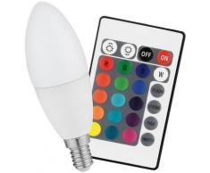Ampoule bougie à LED COB RVB avec télécommande - 3W - Ampoules à LEDs