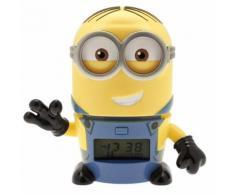 Lego - Réveil veilleuse Dave de Moi, Moche et Méchant 3 BulbBotz 2021241 avec son caractéristique pour enfant - Réveil