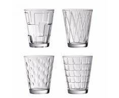 Verre à eau assortie transparent ( lot de 4 ) - Dressed Up par Villeroy & Boch (Nouveauté) - Verrerie
