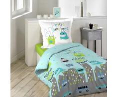Parure de lit enfant petits monstres 140x200 - Douceur d'Intérieur - Linge de lit