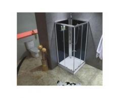 Cabine de douche hydromassante CASSIA - 3 jets de massage - pluie tropicale et douchette - Installations salles de bain