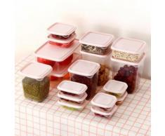 Cuisine Boîte de rangement en plastique d'étanchéité Conservation des aliments frais Pot Container Kiliaadk449 - Boite de rangement