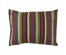 Cotonflor - Taie d'oreiller Coquelicot Multicolore - 50 x 70 cm - Linge de lit