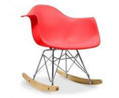 Myfaktory - Chaise enfant balance - polypropylène matt rouge - Chaise