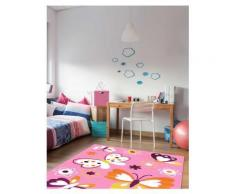 Tapis chambre filles BAMBINO PAPILLON Tapis Enfants par Dezenco 80 x 150 cm - Tapis et paillasson