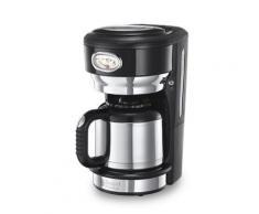 Russell hobbs 21711-56 retro classic machine à café thermique avec pommeau affichage de préparation élégant et maintien au chaud - Expresso et cafetière