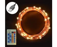 Sunix USB Guirlande Lumineuse LED Etanche Pour Noël Mariages Multi-colore SU315 - Objet à poser