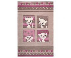 Tapis enfant Kitty Kat par Smart Kids Gris 130x190 - Tapis et paillasson