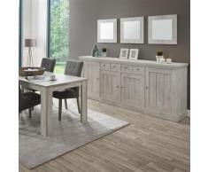Nouvomeuble - Enfilade contemporaine couleur chêne gris sauge - Buffets