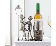 Porte-bouteille métallique couple amoureux - nologie