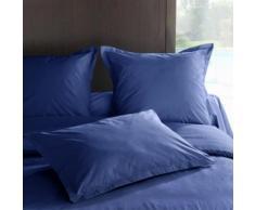 Taie d'oreiller percale Méline 2 LABELIS SIM 50 x 70 cm Bleu océan - Linge de lit