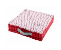 Coussin de sol 100% coton 5 capitons triangle scandinave poignée 45x45x10cm ISOCELE 45X45CM - Textile séjour