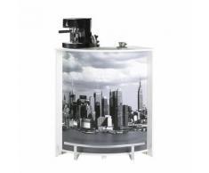 Comptoir de bar petit Blanc - MING n°3 - Tables bar