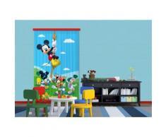 AG Design FCC L 4106 Voilage/Rideau pour chambre d'enfant Motif Disney Mickey Mouse - Objet à poser