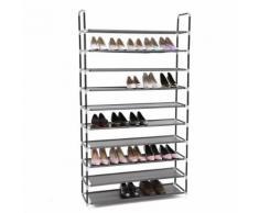 Armoire/étagères à chaussures 10 couches noir 100 x 29 x 175 cm - Meubles à chaussures