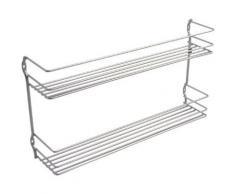 Metaltex pepito / 364632039 étagère à épices 2 étages 36 x 8 x 19 cm revêtement polytherm - Accessoires de rangement