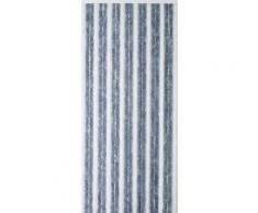Rideau chenille bicolore gris/blanc - Fenêtres et volets