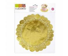 6 Napperons dorés pour gâteaux Ø 26,5 cm - Objet à poser
