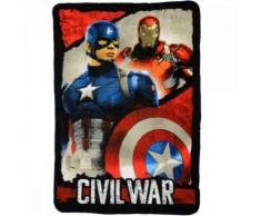 Plaid polaire Captain America Iron Man Les Avengers couverture enfant - Textile séjour