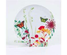 Plat à tarte et pelle en porcelaine motif floral D30cm TUTTI FIORI - platerie, service