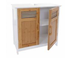 Meuble sous-lavabo HWC-A85, commode / armoire salle de bains, 60x62x31cm blanc - Meubles de salle de bain