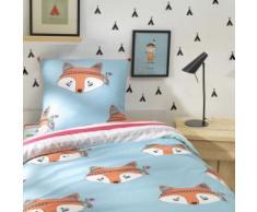 Parure de lit enfant renard Foxy 140x200 - Linge de lit