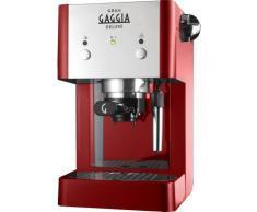 Gran gaggia ri8425 22 deluxe machine à café avec fonction support réservoir 1 litre 15bar 1050w rouge - Expresso et cafetière