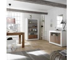 Nouvomeuble - Ensemble salle à manger complète marron blanc urban 4 - Tables salle à manger