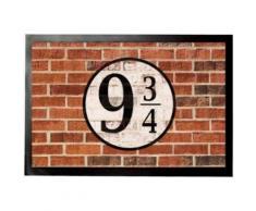 Murs En Briques Paillasson Essuie-Pieds - Quai Neuf Et Trois Quarts (60x40 cm) - Tapis et paillasson