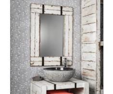Miroir de salle de bain en Mindi 60x80 LOFT blanc - Miroir