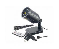 Projecteur laser télécommandé à 12 LED et 8 effets lumineux LP-500 - Eclairage extérieur