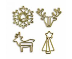 8 trombones de Noël doré - Objet à poser